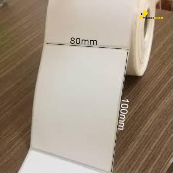 Decal thường in mã vạch tem nhãn khổ 80x100mm, cuộn 100m